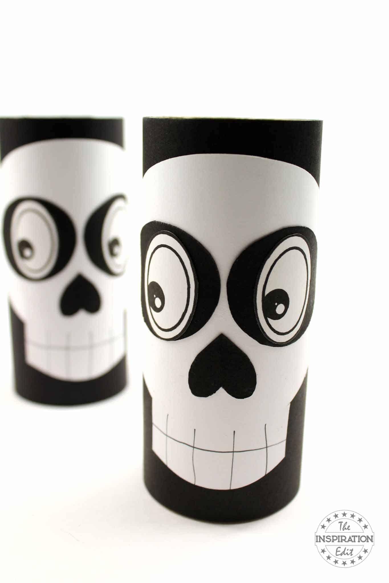 toilet tube skeleton craft for kids
