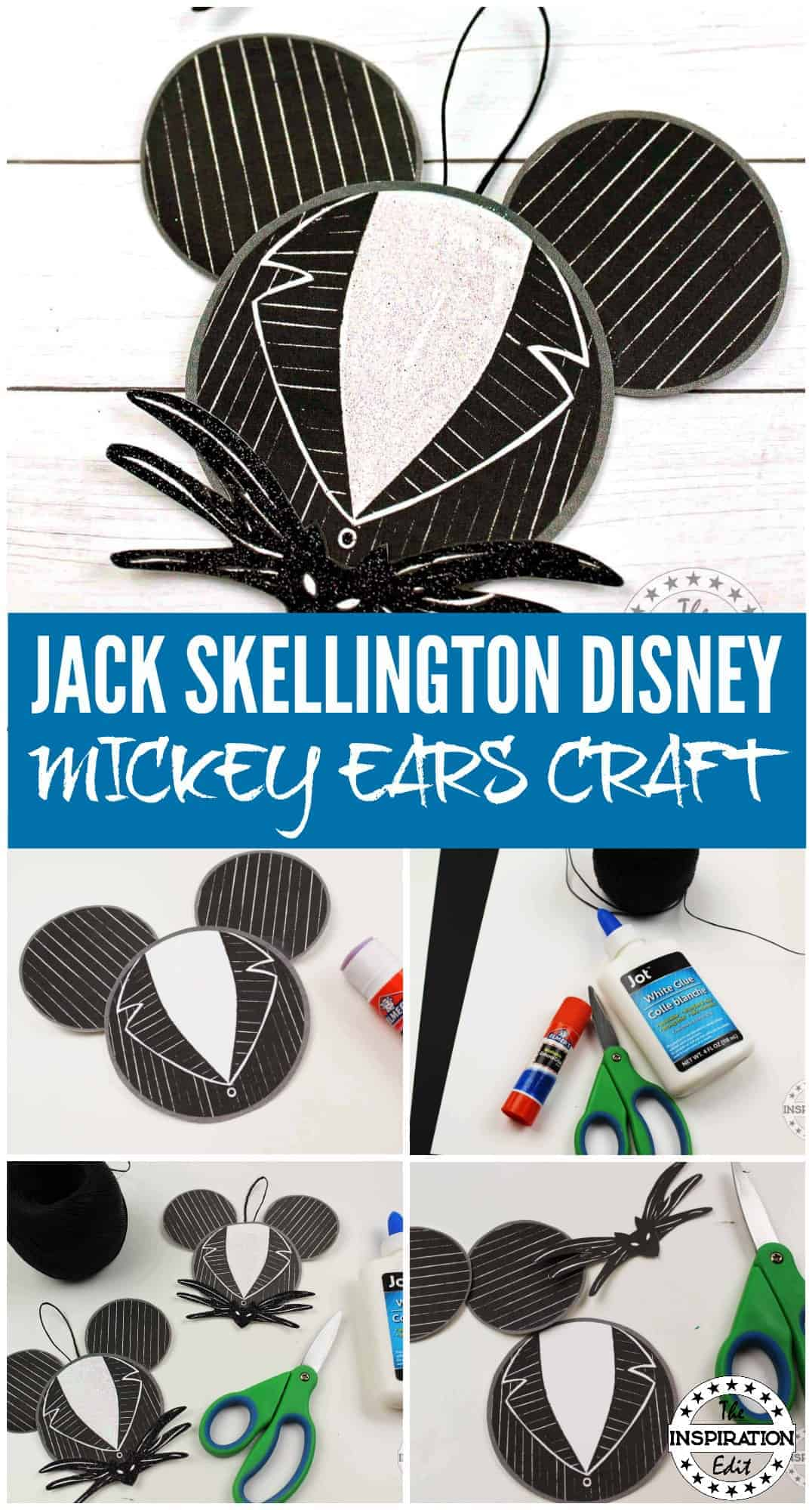 Jack mickey ears from the nightmare before christmas