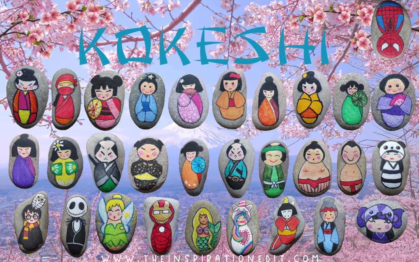 kokeshi-dolls-pictures-painted rocks