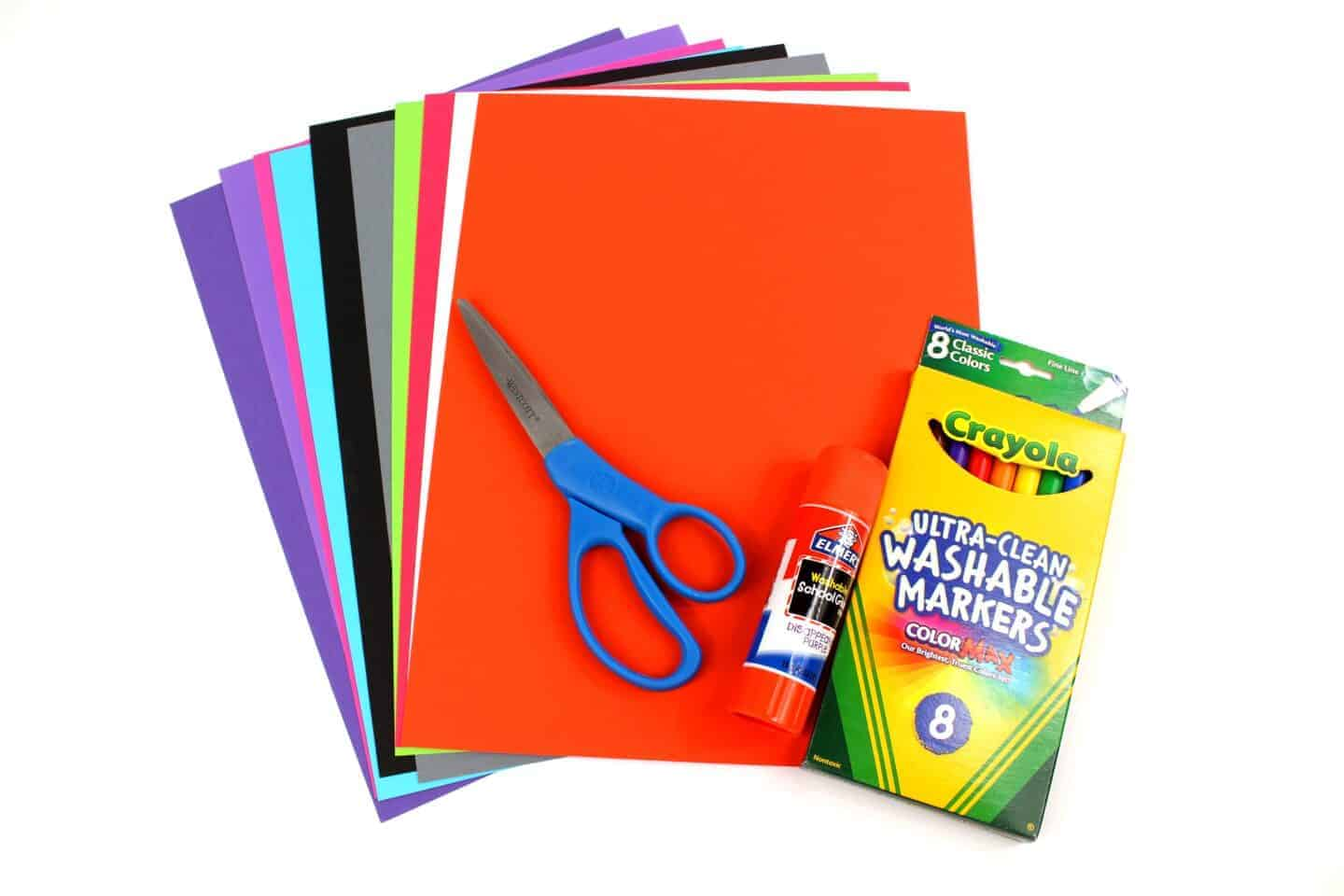 halloween supplies for toilet tube craft