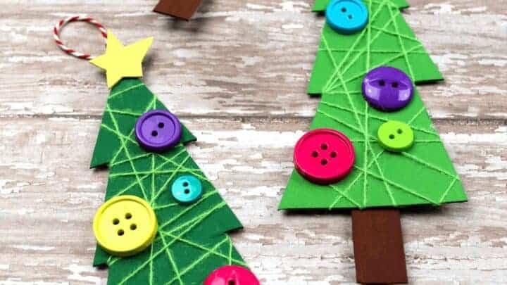 Easy Christmas Tree Craft for kids to make