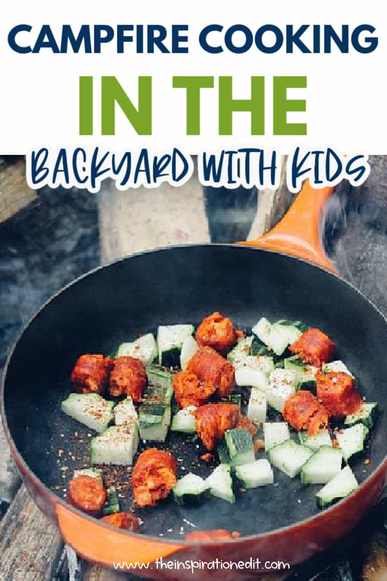 campfire cooking with kids