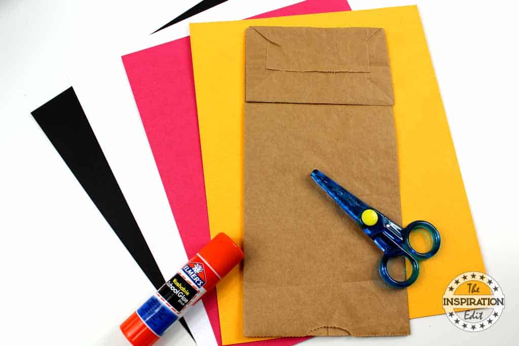 mickey mouse paper bag supplies and construction paper