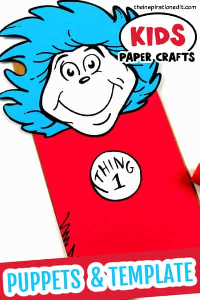 DR SEUSS THING ONE THING 2 PAPER BAG PUPPET