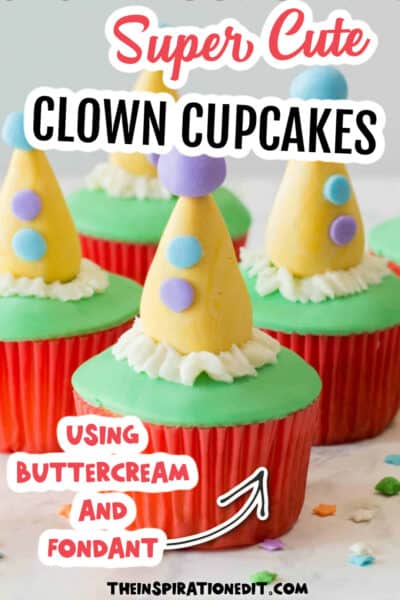 clown cupcakes for party