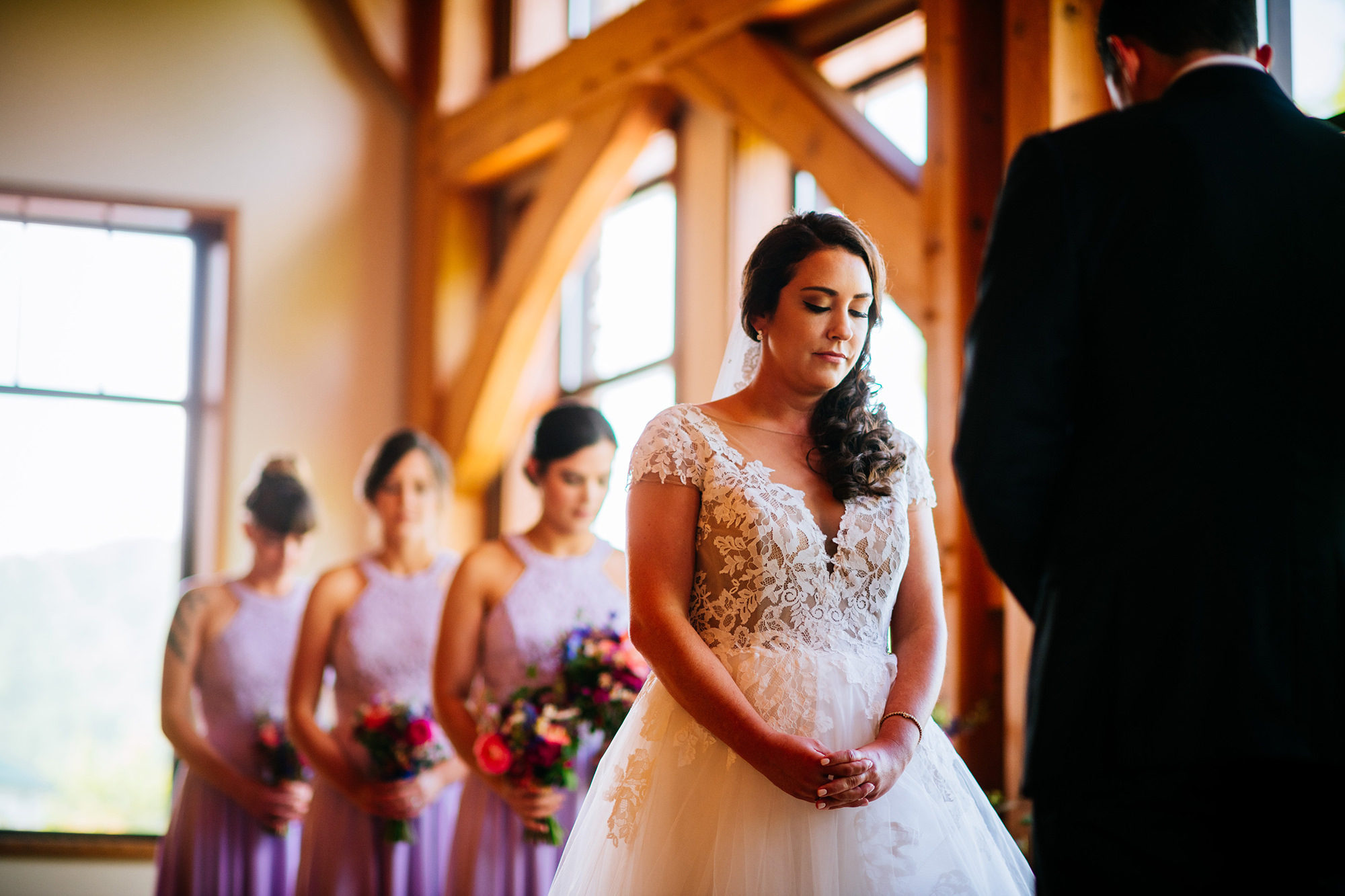 bride during stonewall resort ceremony