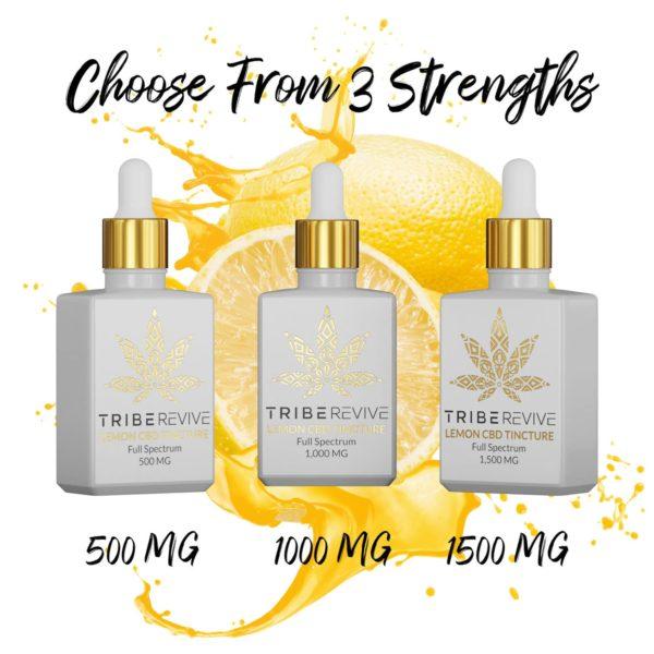 Tribe Revive Lemon CBD Tincture Full Spectrum