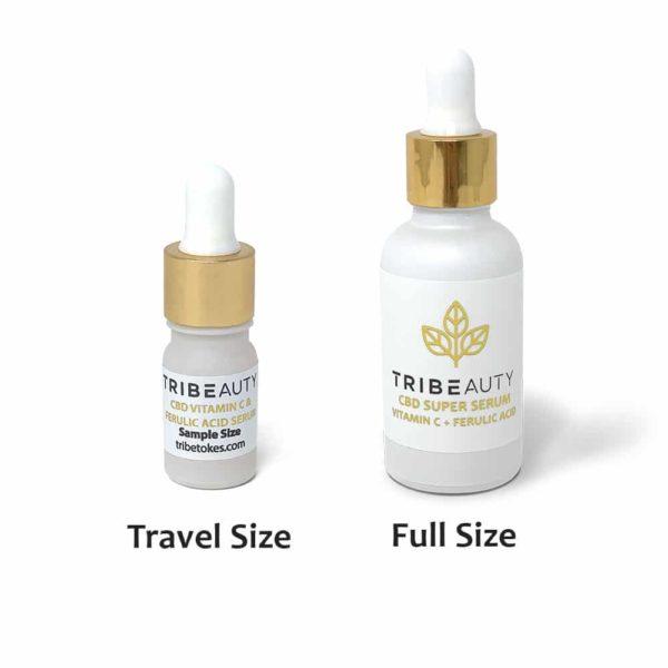TRIBEAUTY Travel Size Vitamin C & Ferulic Acid Serum (Full Travel Size and Sample Size)