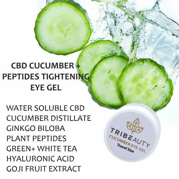 CBD Cucumber & Peptides Eye Gel Ingredients