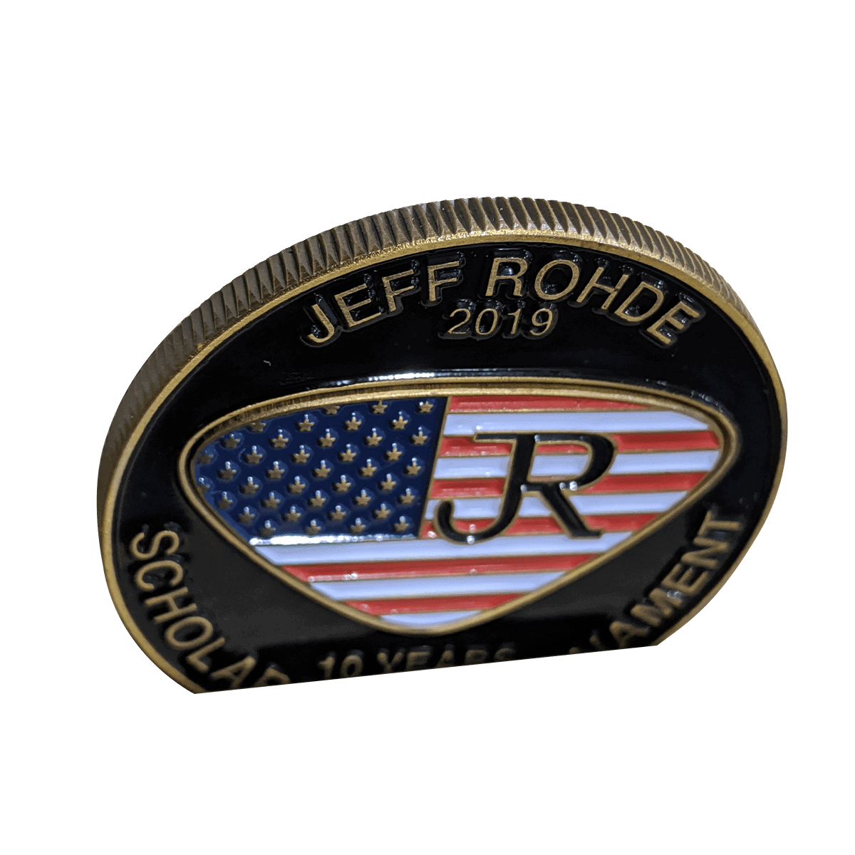 Challenge Coin Reeded Edge