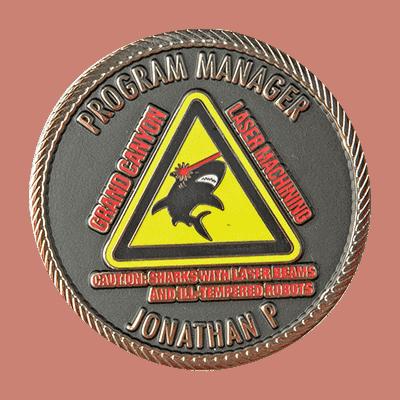 Matte Enamel Coin Option