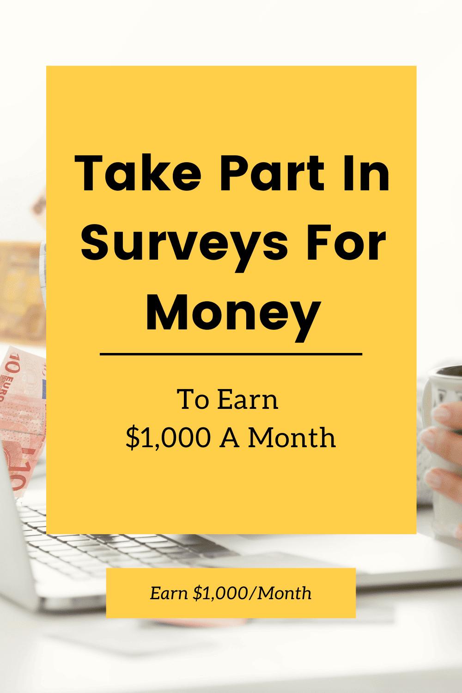Take part in surveys for money