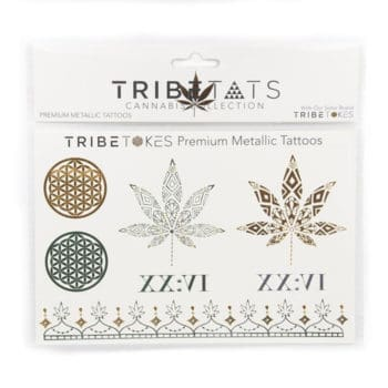 TribeTats Metallic Tattoos - Cannabis Collection
