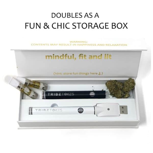 The Wand Adjustable Voltage Vape Pen & Storage Box – White (Battery Only)
