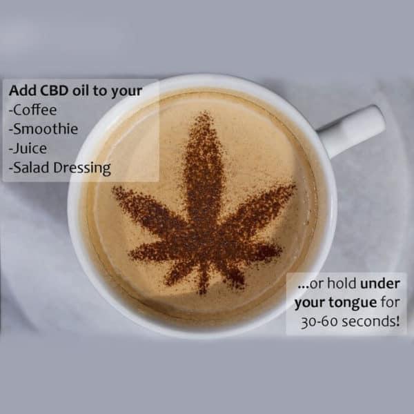 CBD Oil Addition To Coffee, Smoothie, Juice