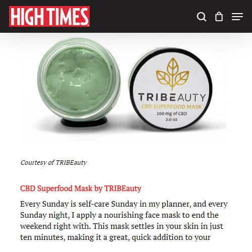 CBD Skincare Bundle, Cannabis Gift Basket & Set