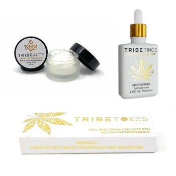 TribeTokes CBD Eye Rescue Cream, CBD Tincture 1500mg & CBD Vape Pen
