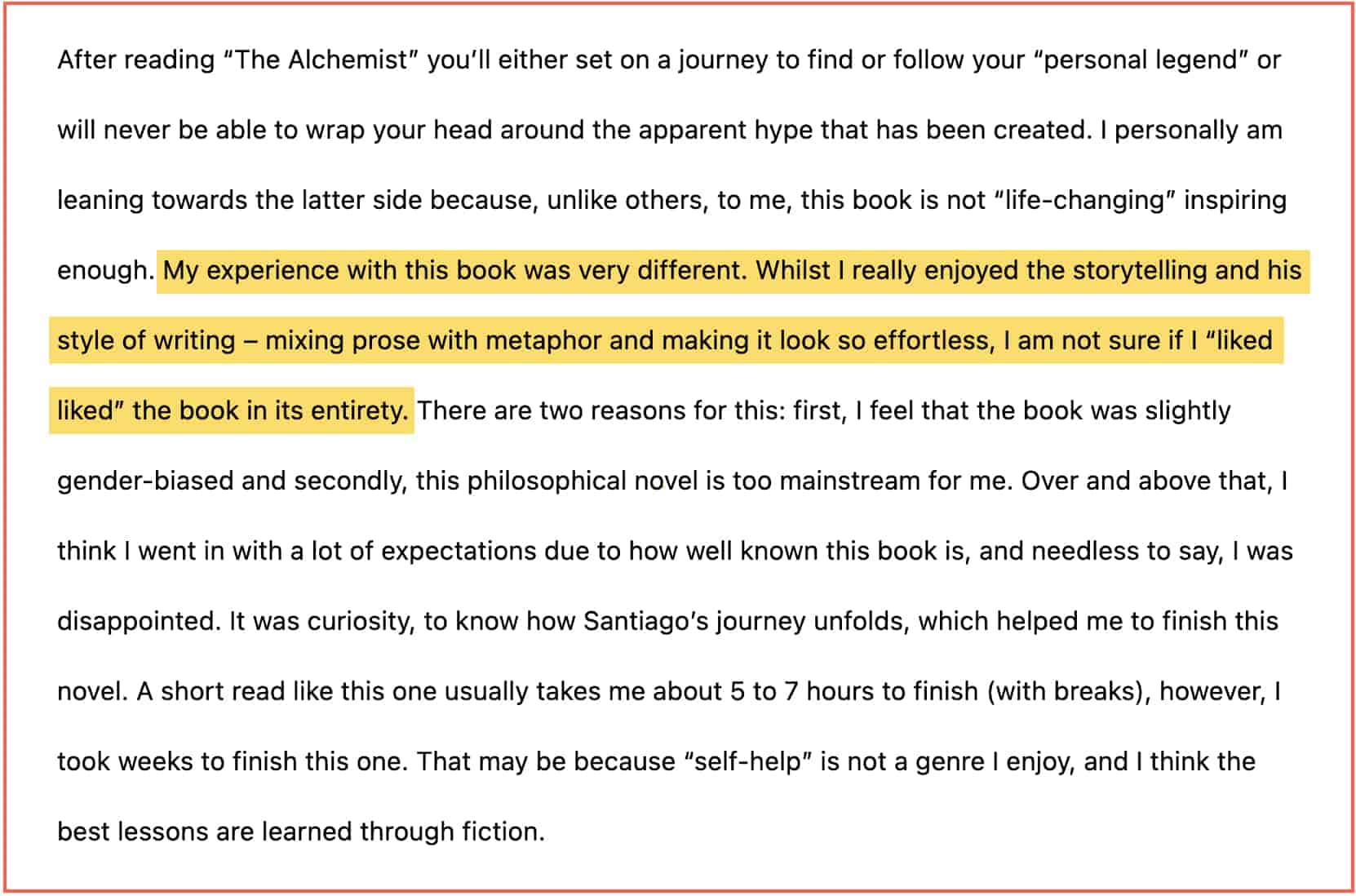 Honest (unbiased) About Flaws Writing Book Reviews