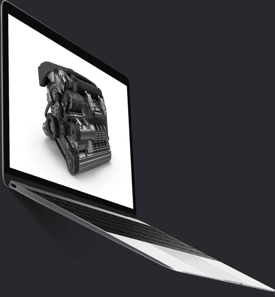 engine render laptop