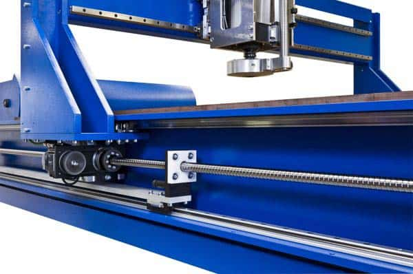 CNC Router with drive nut screw