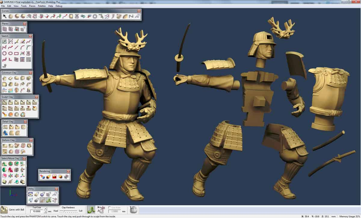 sensable freeform interface samurai model