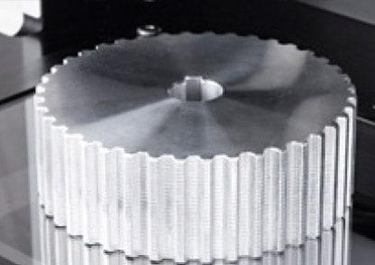 Optical measurement of gear wheel