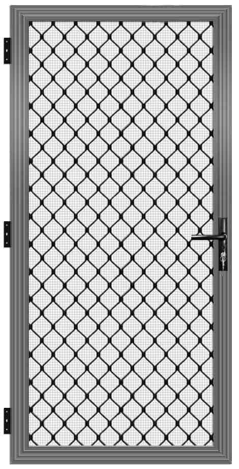 Single Diamond Security Door