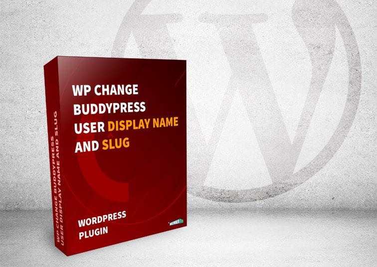 mf change bp user display slug box - [WordPress Plugin] How to Change BuddyPress display name and slug