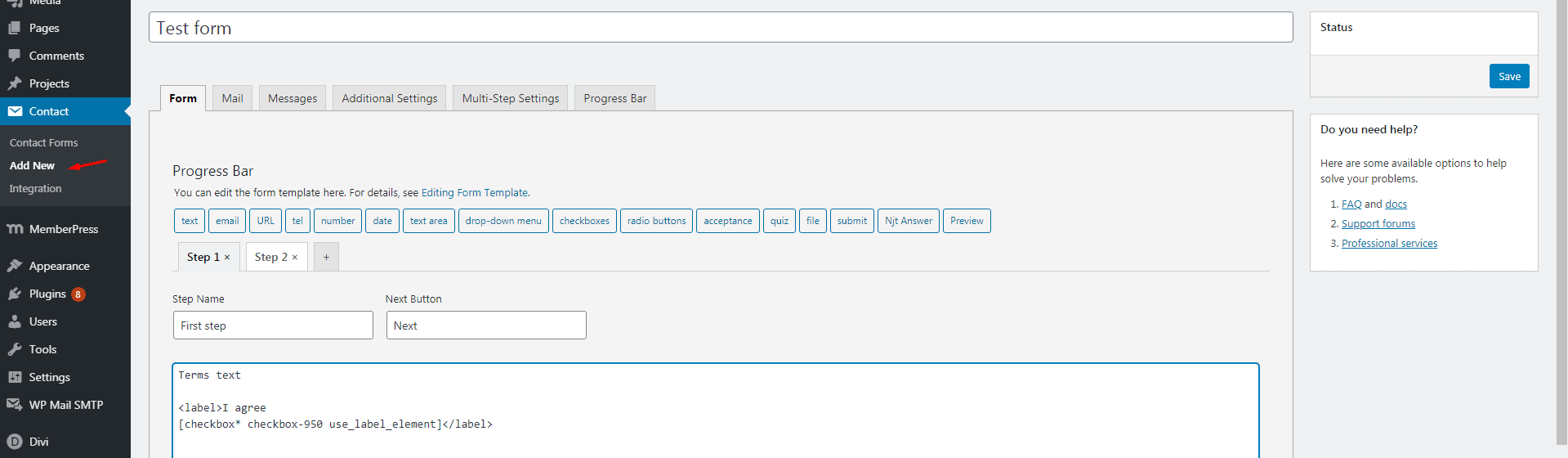 Screenshot 165 - How to add mandatory multistep Terms of use to Memberpress purchase form