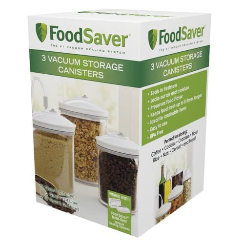 FoodSaver 3 Pieces Round Canister Set