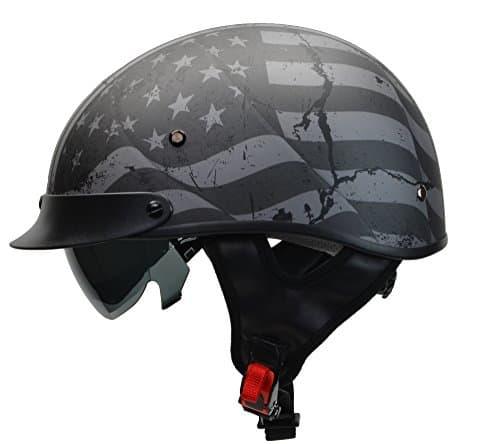 Best for Half Face: Vega Rebel Warrior Motorcycle Half Helmet