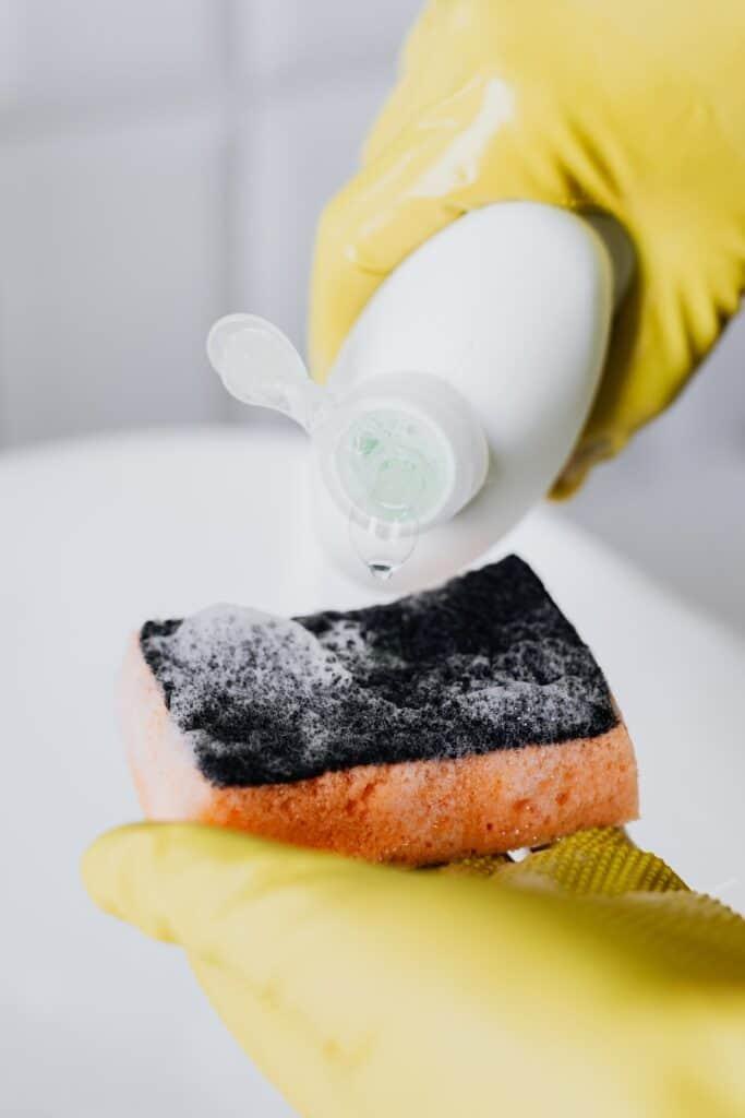 The Best Sneaker Cleaner EVER: Sponge & Detergent