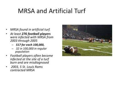 MRSA and Artificial Turf Antibiotic Resistance