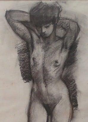 Figura femenina desnuda. Clase de dibujo en Barcelona