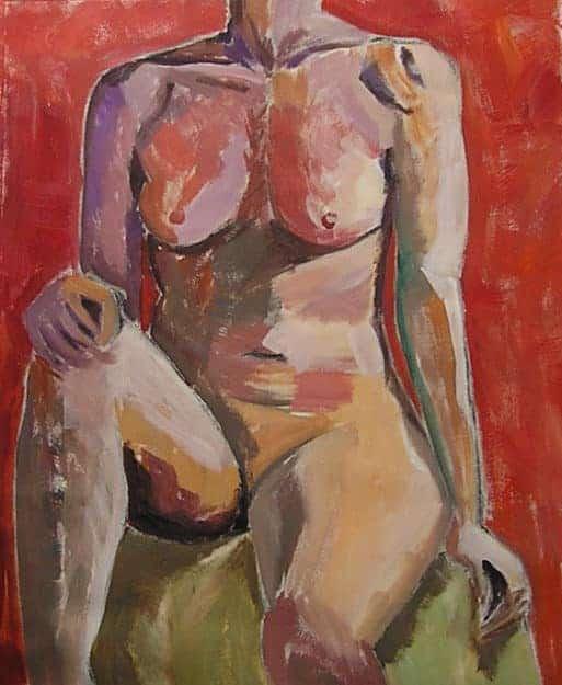 Female figure. Live model study