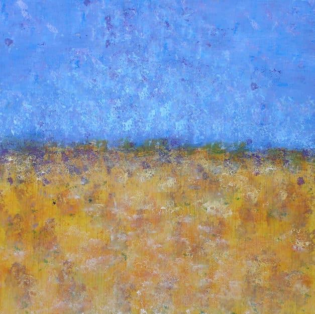 Acrylic landscape. Figurative painting