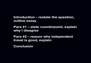 4 paragraph essay structure