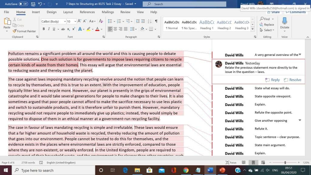 annotated ielts essay