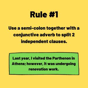 how to use a semi-colon