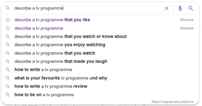 describe a tv programme (ielts cue cards)