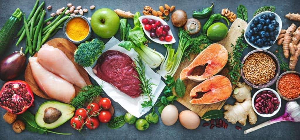 a picture of foods that need to be included in a diet to build muscle fast.