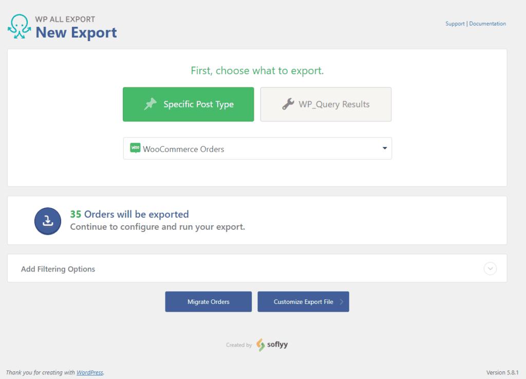 Exporter les commandes WooCommerce vers XML et CSV à l'aide de WP All Export 39
