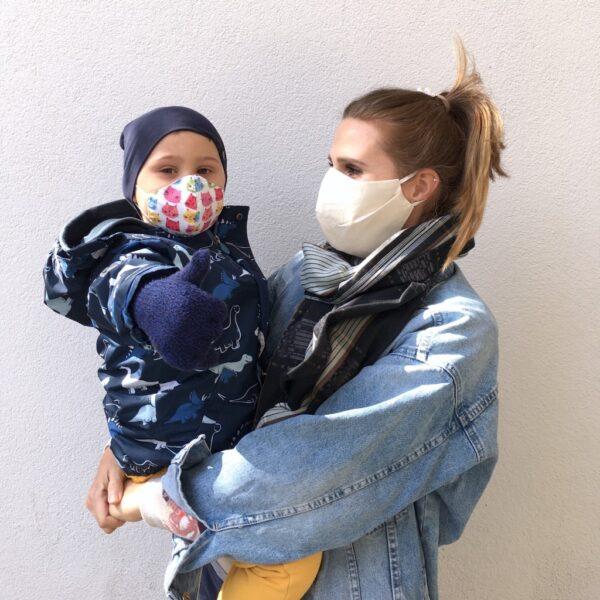 Organic cotton face mask - women - side