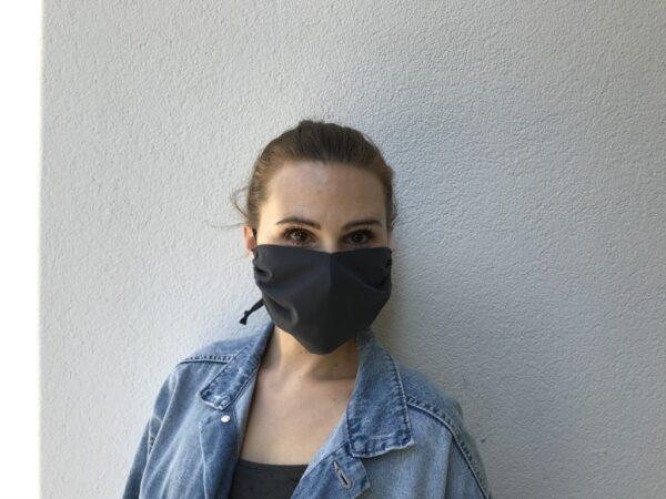 Mund-Nasen-Maske aus Bio-Baumwolle - Damen - Schwarz