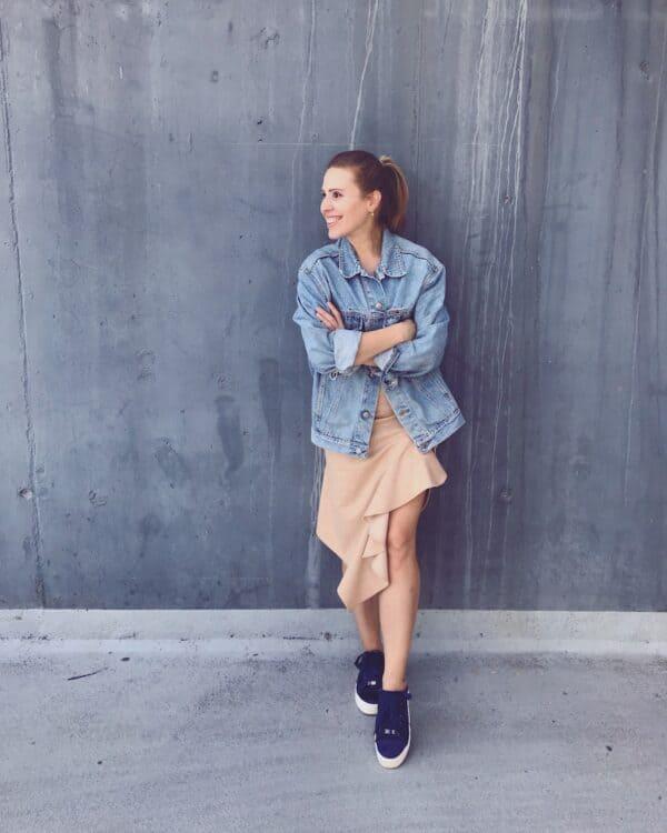Handmade ruffle wrap skirt - beige - mood