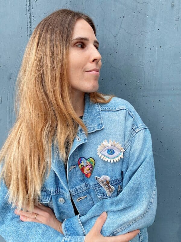 Brooch Embroidery - Jeans Jacket - Mood