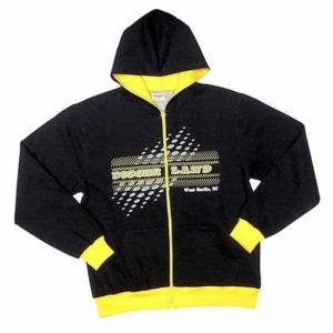 Diggerland black and yellow jacket with hood