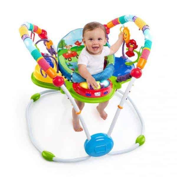 A baby in the baby einsten motion jumper