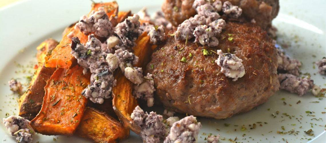Lammfärsbiffar med ugnsrostad sötpotatis