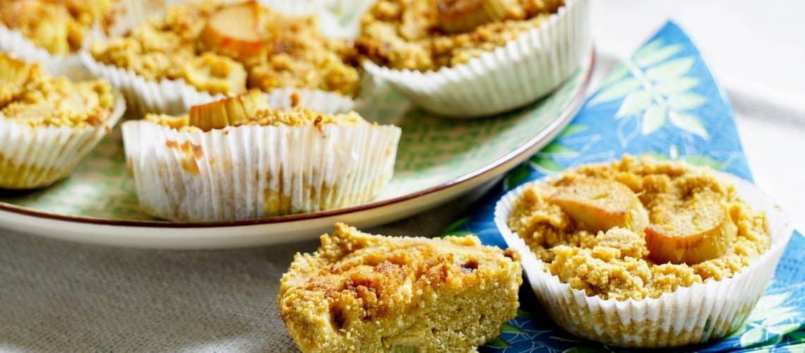 Rabarbermuffins med kokos (glutenfritt, nötfritt)